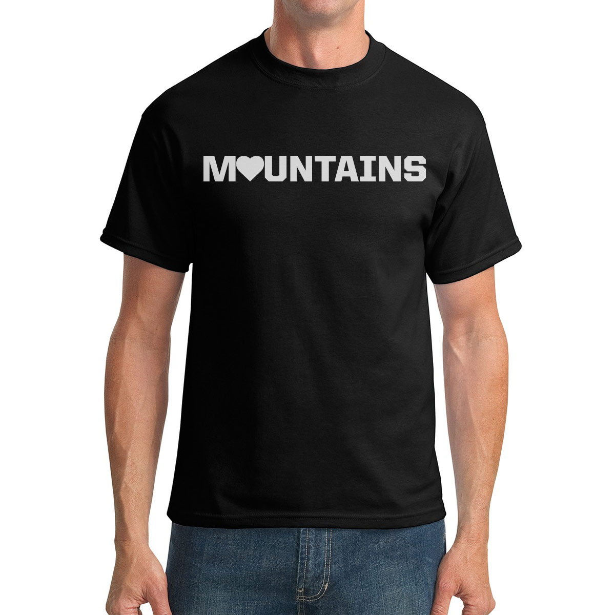 I love mountains tee, Great Stone Shirts